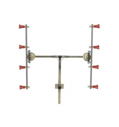 Barra en T 4+4 con Pulverizadores Regulables con Módulo Antigota