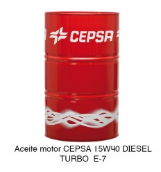Aceite motor CEPSA 15W40 DIESEL TURBO E-7