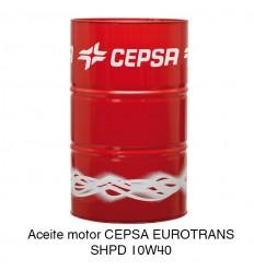 Aceite motor CEPSA EUROTRANS SHPD 10W40