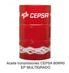 Aceite transmisiones CEPSA 80W90 EP MULTIGRADO