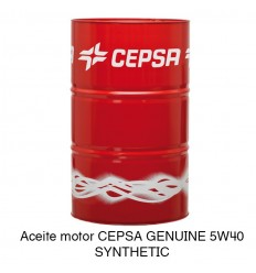 Aceite motor CEPSA GENUINE 5W40 SYNTHETIC
