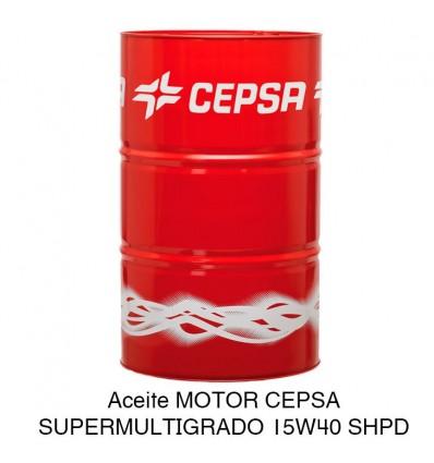 Aceite motor CEPSA SUPERMULTIGRADO 15W40 SHPD