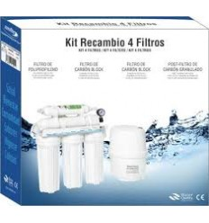 Kit Recambio 4 Filtros Osmosis