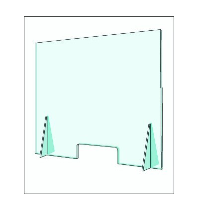 Mampara protectora de metacrilato transparente para prevención de COVID-19
