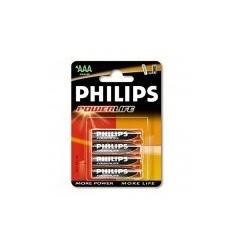 PILA LR3 AAA PHILIPS ALCALINA 1,5V