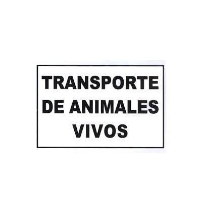 Placa Transporte de Animales Vivos