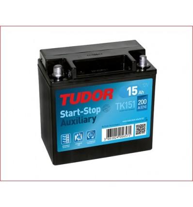 Batería auxiliar START&STOP TUDOR TK151